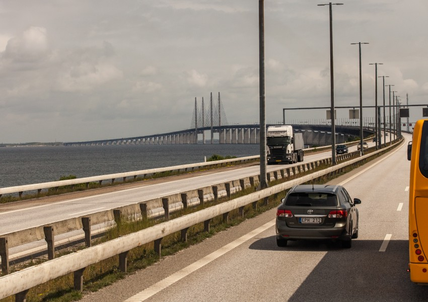 Øresund Bridge, Denmark, June 2014, picture 3/4