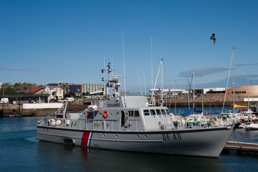 Cherbourg Harbour DF 40 French Customs Service Patrol Vessel 2009 08 31
