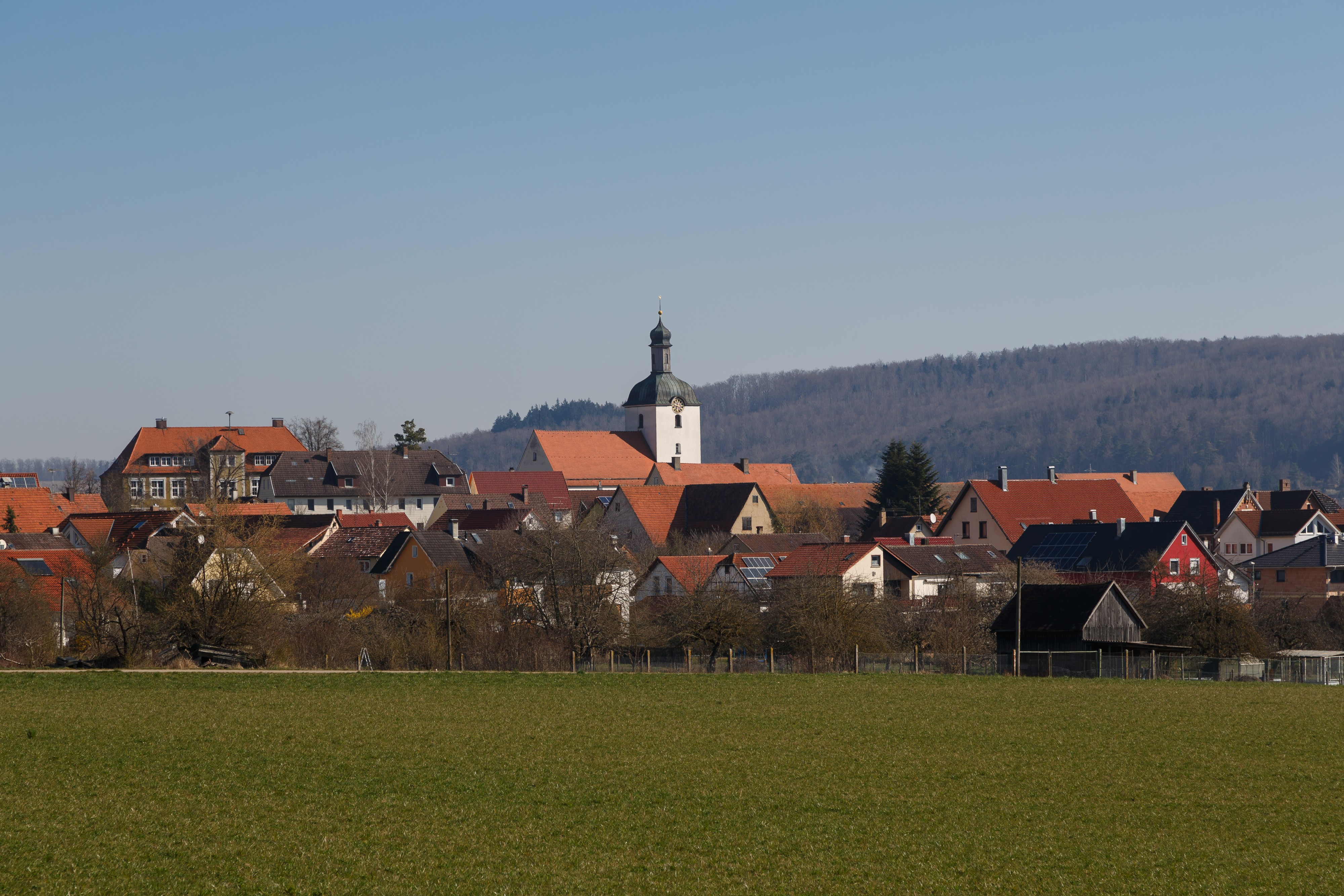 Bolheim Baden-Württemberg Germany-Village-view-from south-01