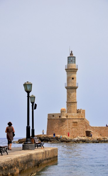 Chania lighthouse in Crete 001