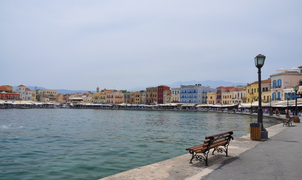 Chania Old Harbour in Crete, Greece 001
