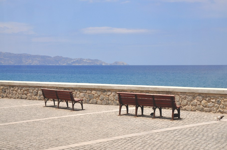 Coasts of the Aegean Sea in Heraklion, Crete 002