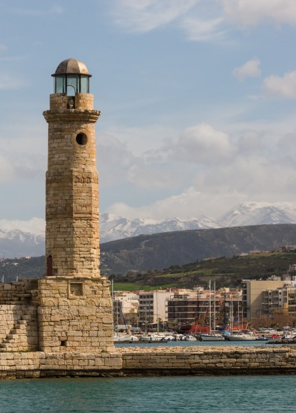 Rethymno lighthouse Crete Greece