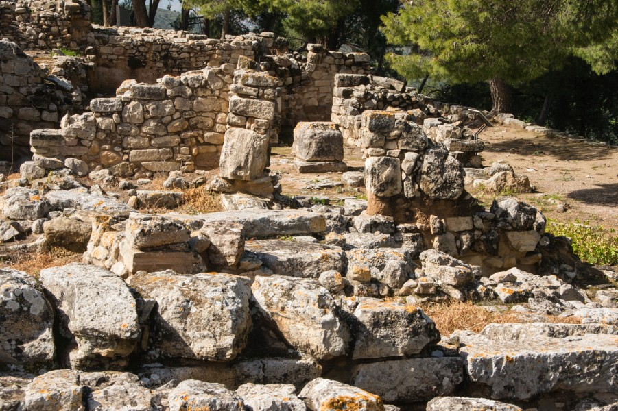 Ruins at Phaistos Crete Greece