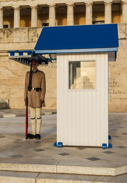 Sentry box Evzone Parliament Athens Greece