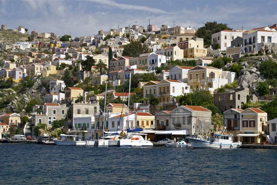 Symi houses Greece