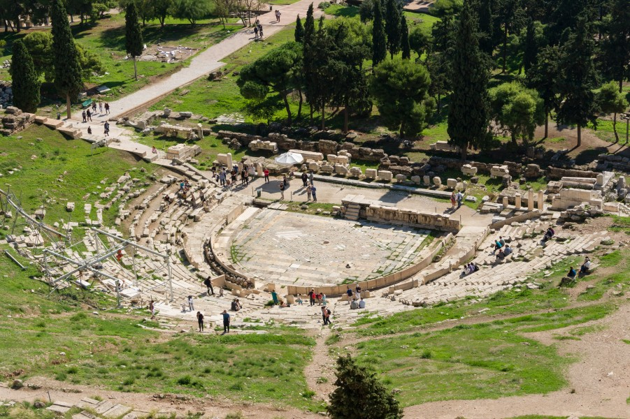 Theatre of Dionysus Acropolis Athens Greece