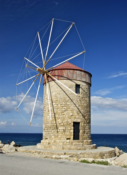 Windmill harbour Rhodes