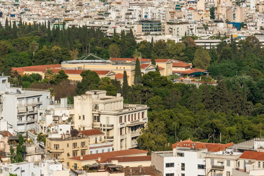 Zappeion from Acropolis, Athens, Greece
