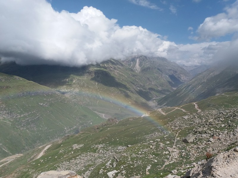 Rainbow from Rohtang pass road, 1