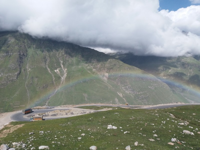 Rainbow from Rohtang pass road, 3