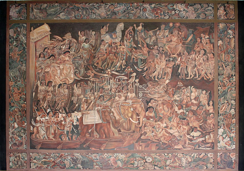 Victory and consecration of Sinhala, Albert Hall Museum, Jaipur, India