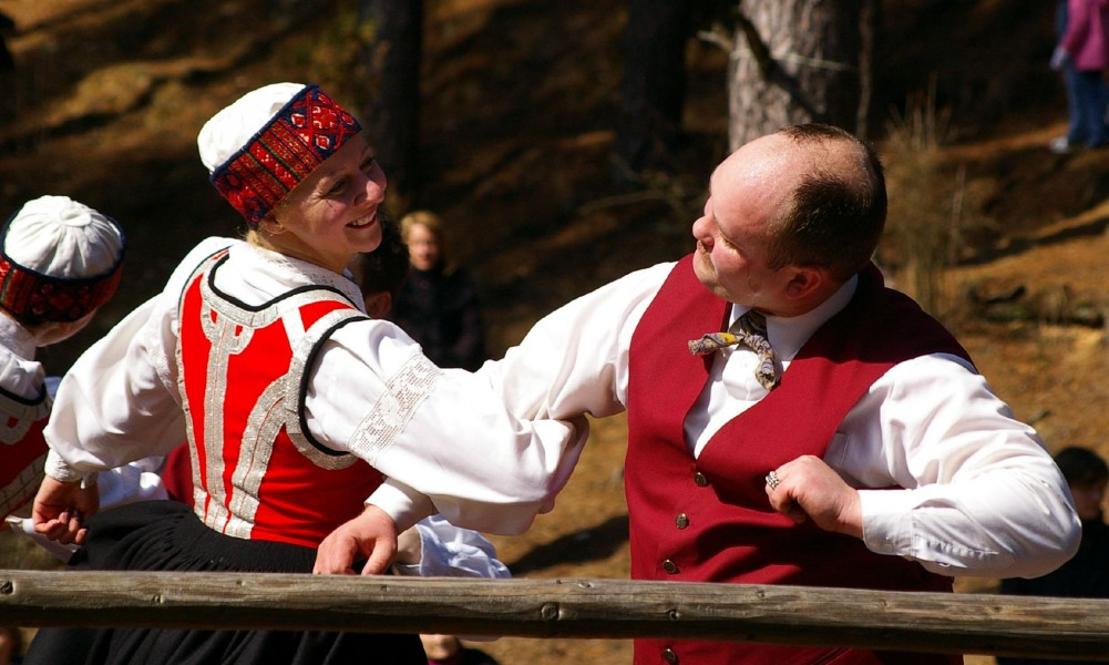 Folk dancers 3, Riga, Latvia, April 06