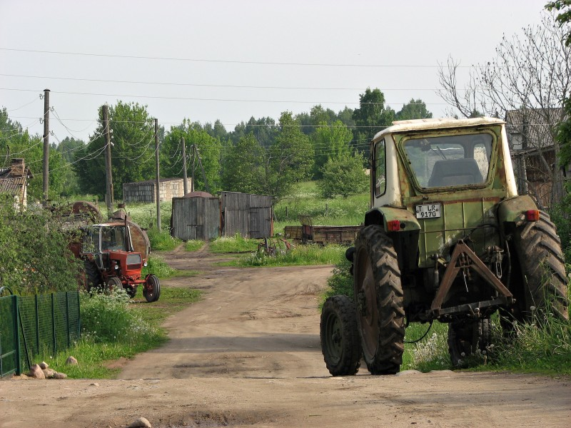 Tractors in Latvia in 2010