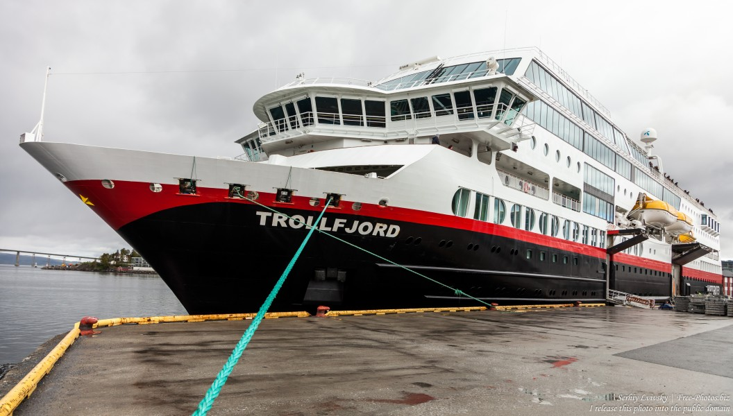 MS Trollfjord ship of Hurtigruten in Finnsnes, Norway, photographed in June 2018 by Serhiy Lvivsky, picture 2