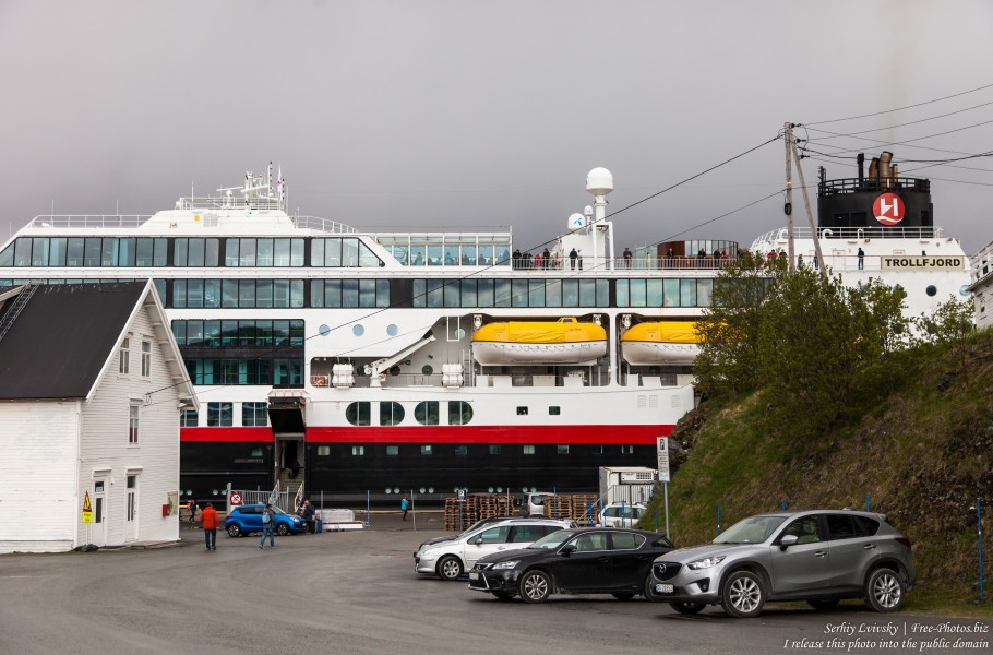 MS Trollfjord ship of Hurtigruten in Finnsnes, Norway, photographed in June 2018 by Serhiy Lvivsky, picture 3