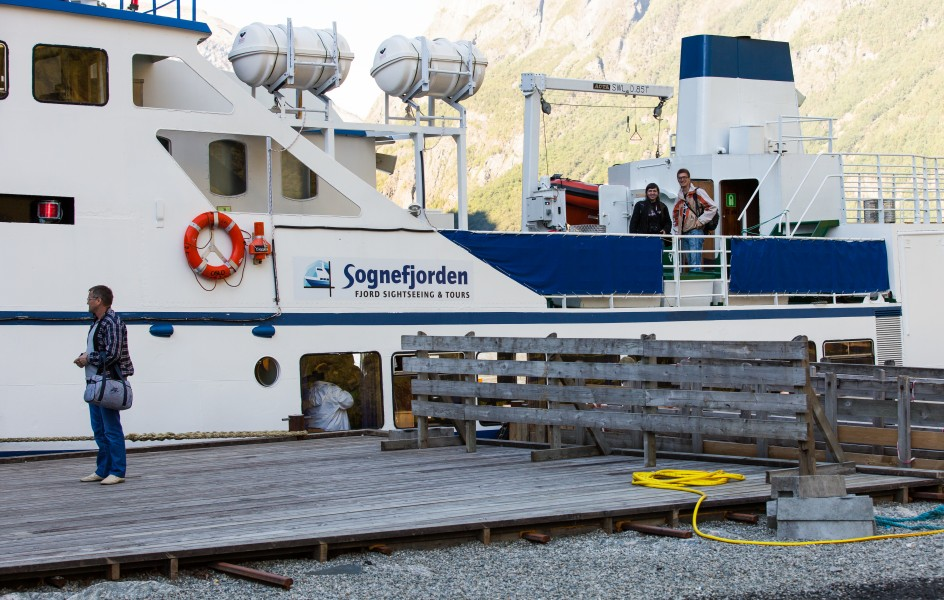 a boat on a branch of the Sognefjord, Norway, near Flåm, June 2014, picture 104