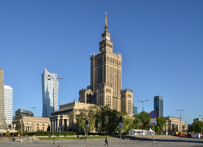 Palace of Culture and Science, Warsaw (by Pudelek)