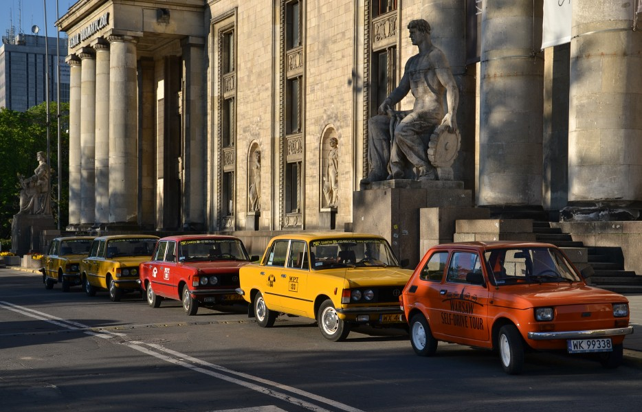 Warszawa (Warsaw) - old polish cars (Fiat126p and Fiat125p)