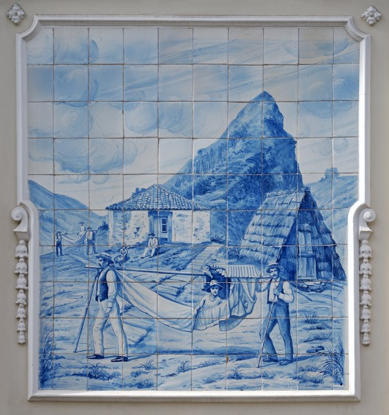 Azulejo on the wall of the Ritz Madeira hotel. Portugal (1)