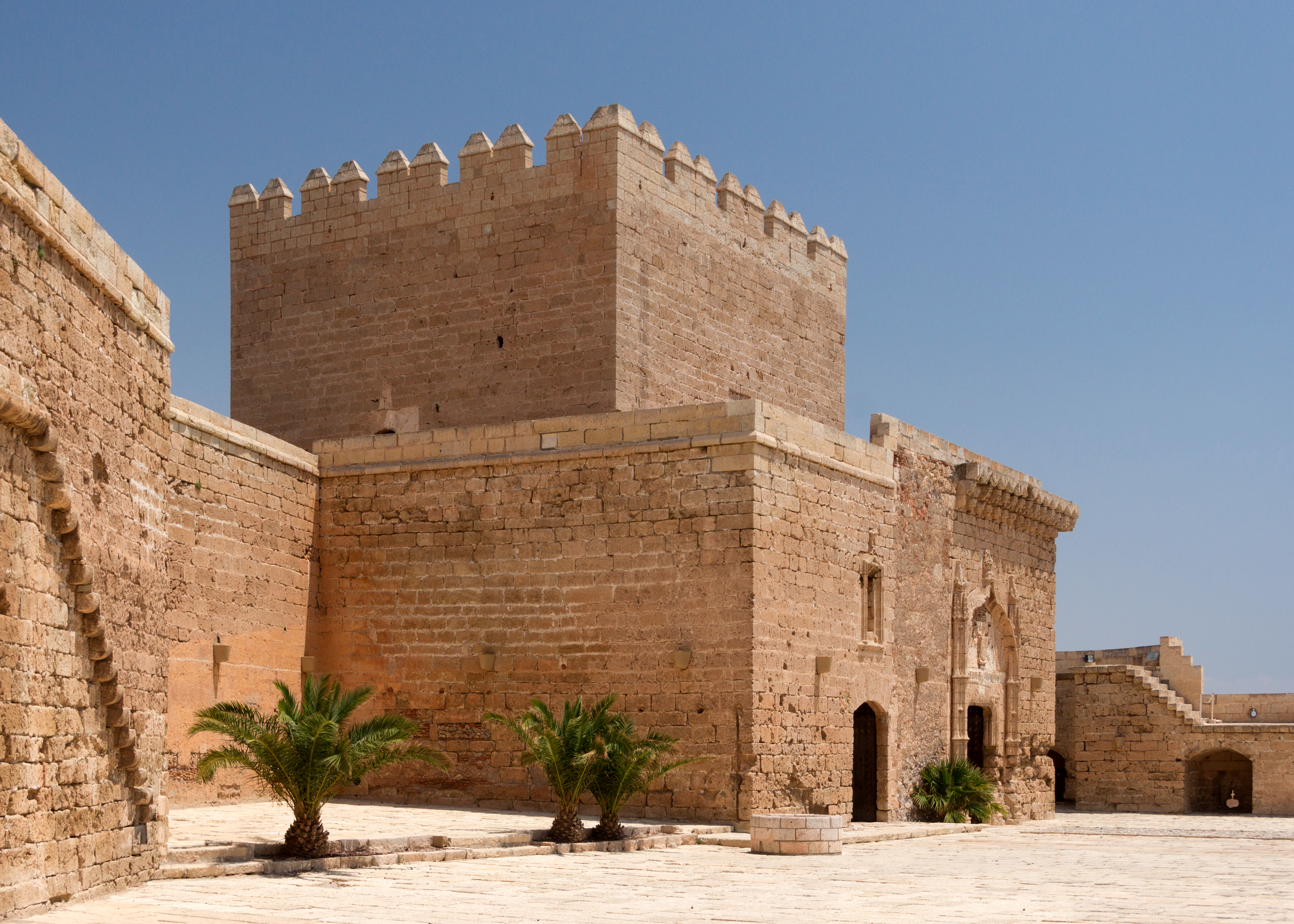 Homage Tower from courtyard, Alcazaba, Almeria, Spain