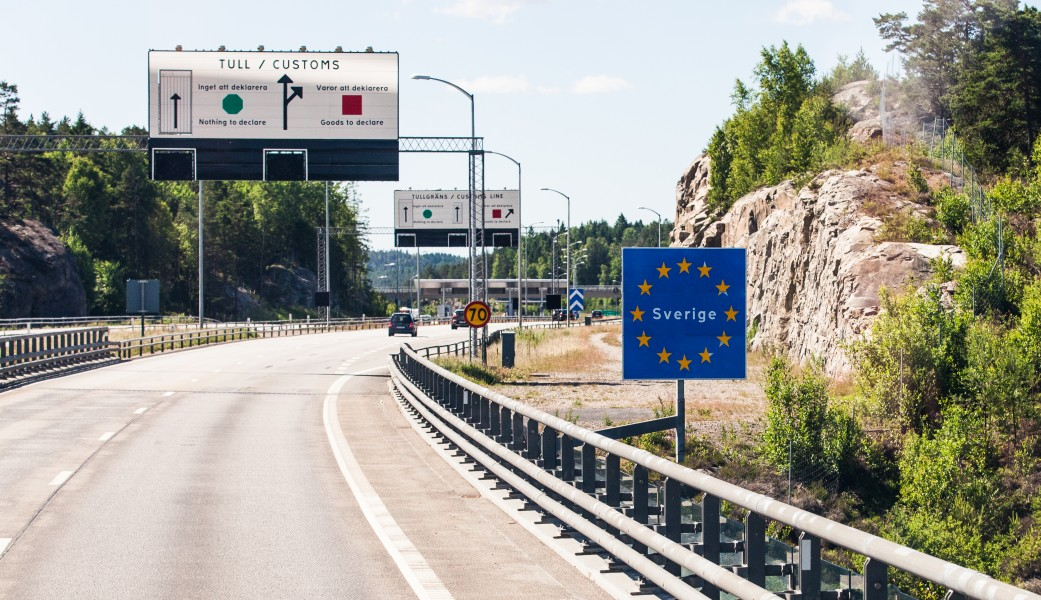 crossing Norway - Sweden border on the way to Gothenburg, Sweden, June 2014, picture 1
