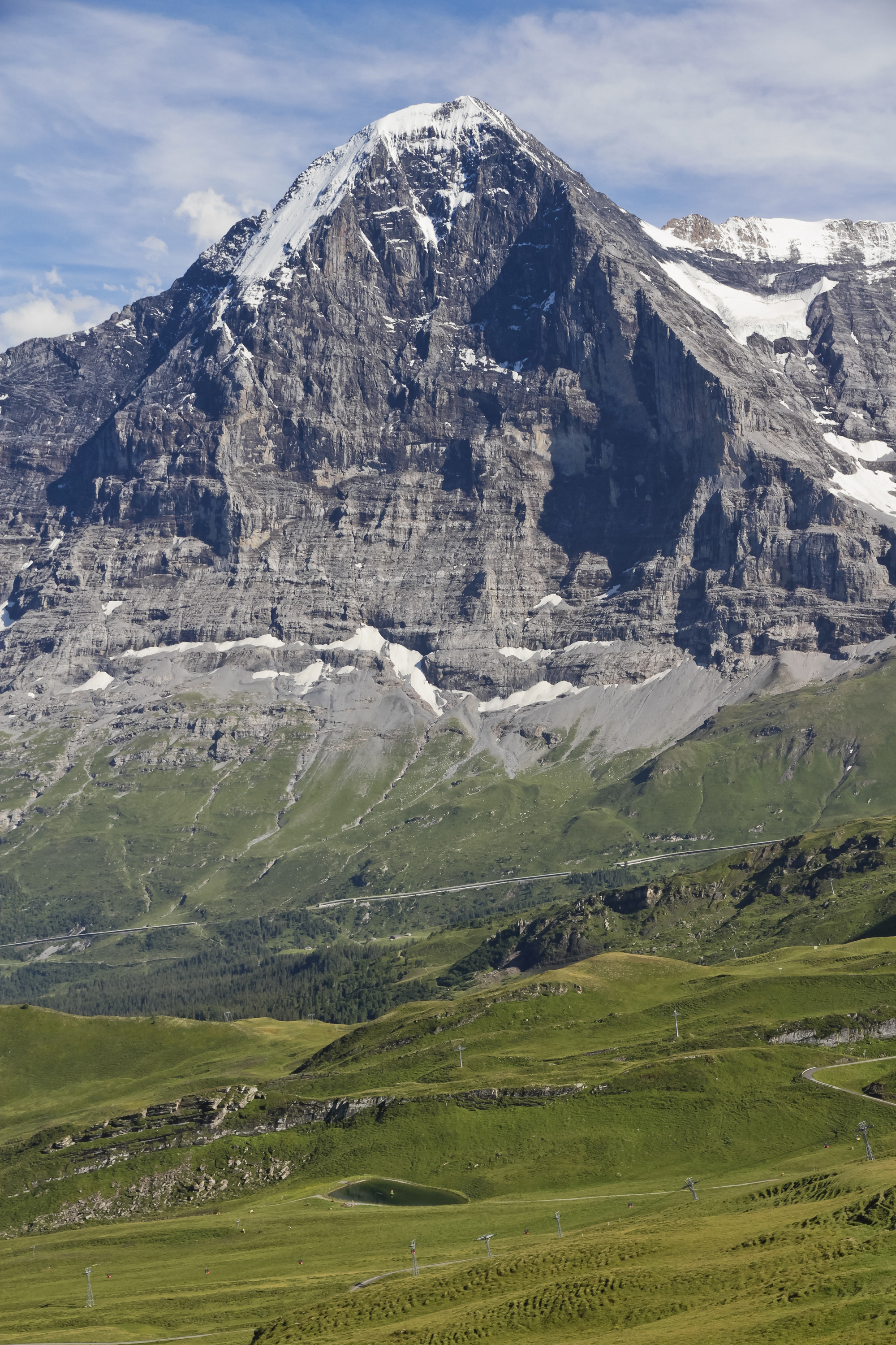 North face of Eiger as seen from Männlichen, Bern, Switzerland, 2012 August