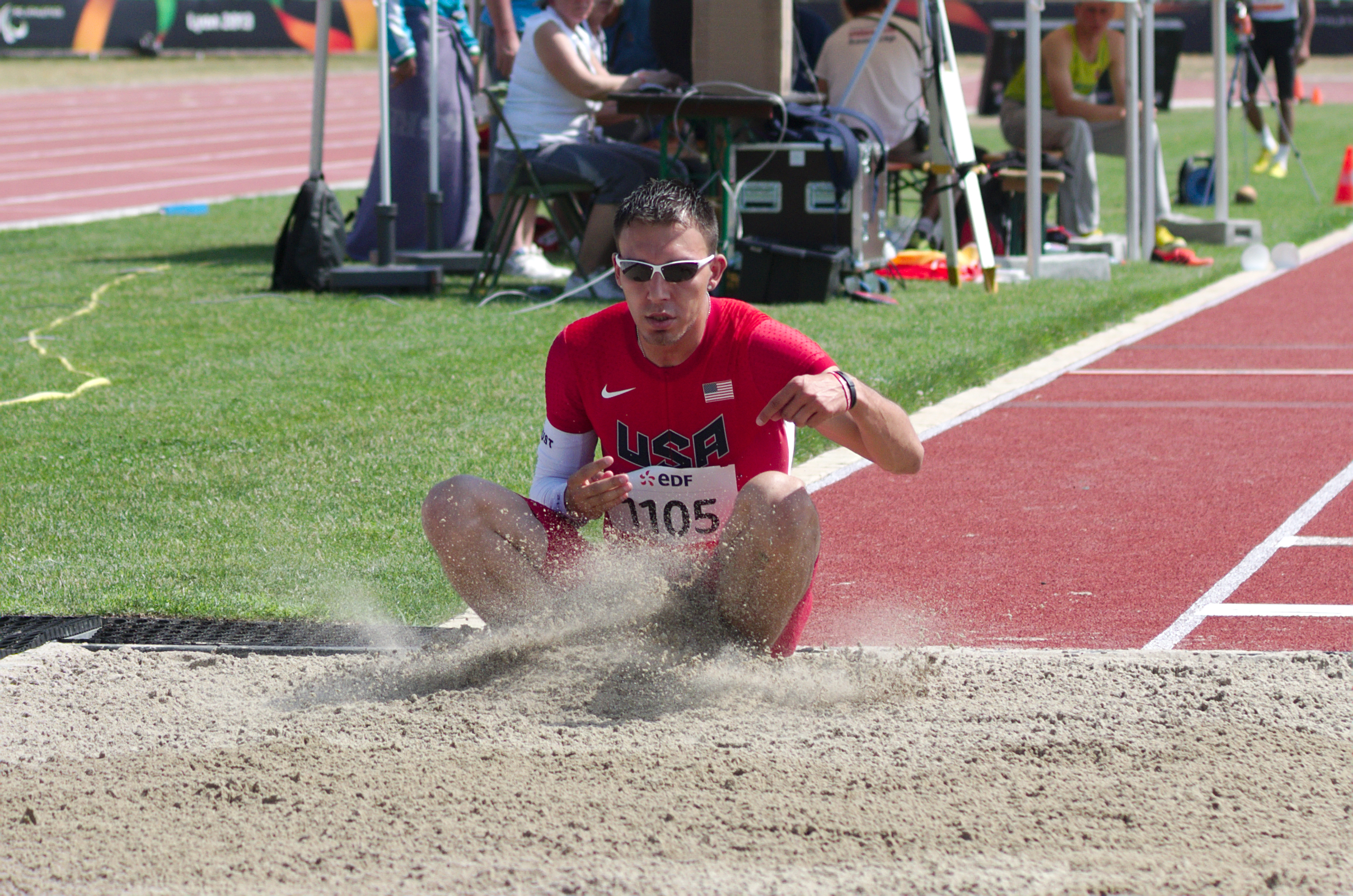 2013 IPC Athletics World Championships - 26072013 - Robbie Gaupp of the USA during the Men's Triple jump - T46 4