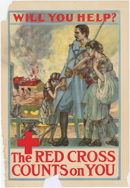 4 Sammlung Eybl USA. Anonym. Will you help The RED CROSS COUNTS on YOU 1917. 101 x 71 cm. (Slg.Nr. 356)