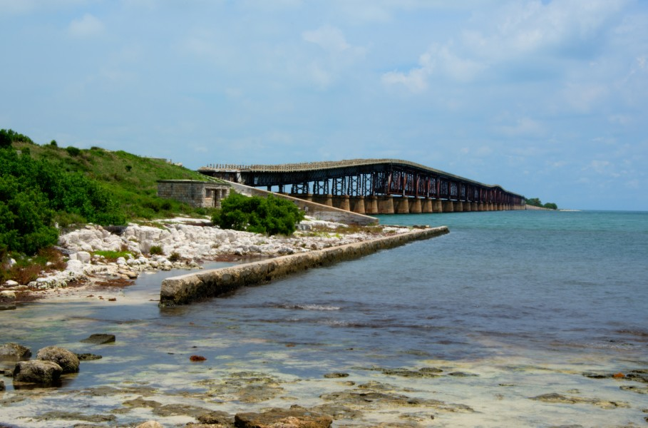 HDR of Bridge in Florida Keys