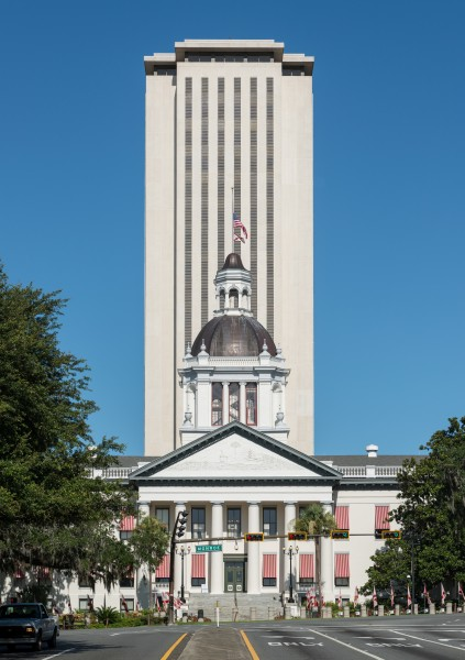 Old and New Florida State Capitol, Tallahassee, East view 20160711 1