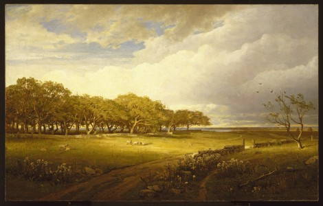 William Trost Richards - Old Orchard at Newport - Google Art Project