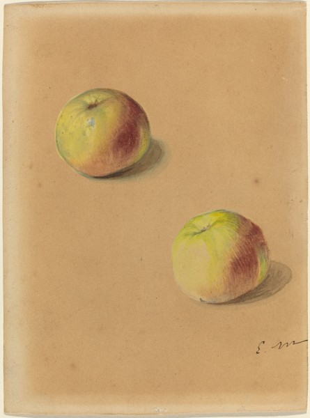 Édouard Manet - Two apples