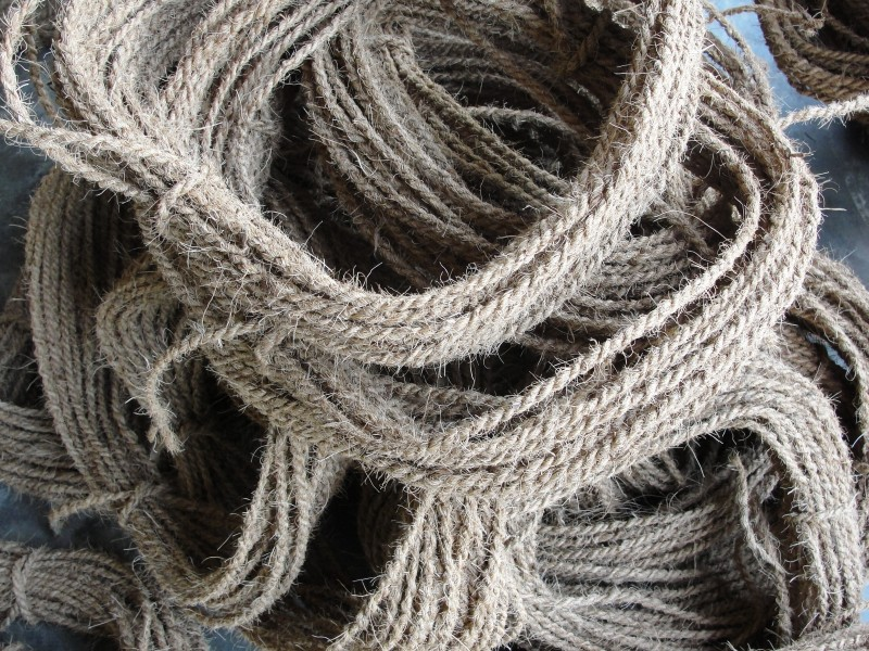 A view of coir pith rope