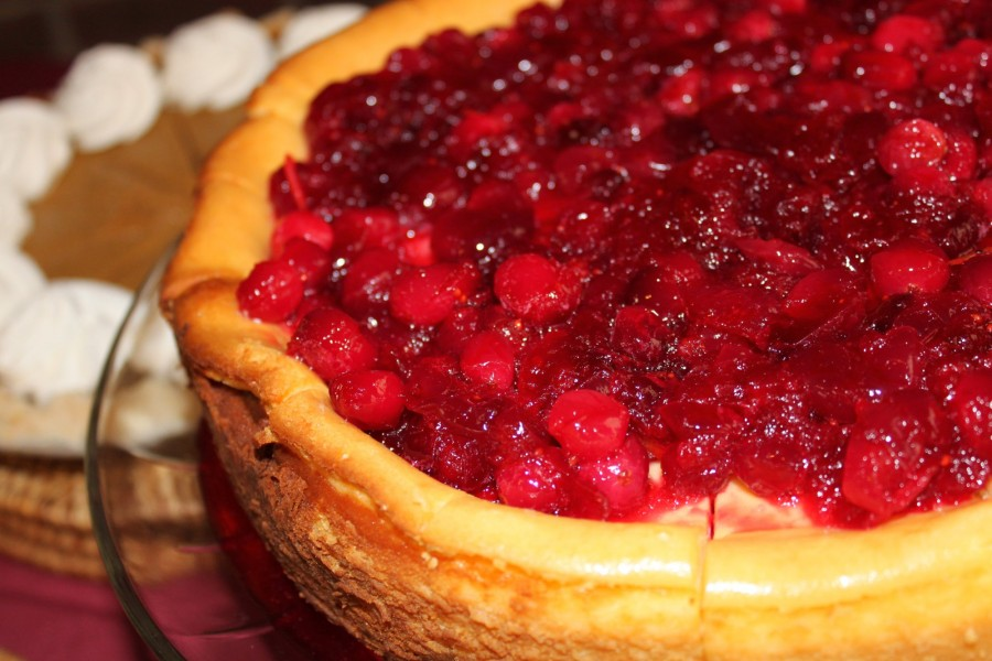 Cranberry cheesecake is the best!