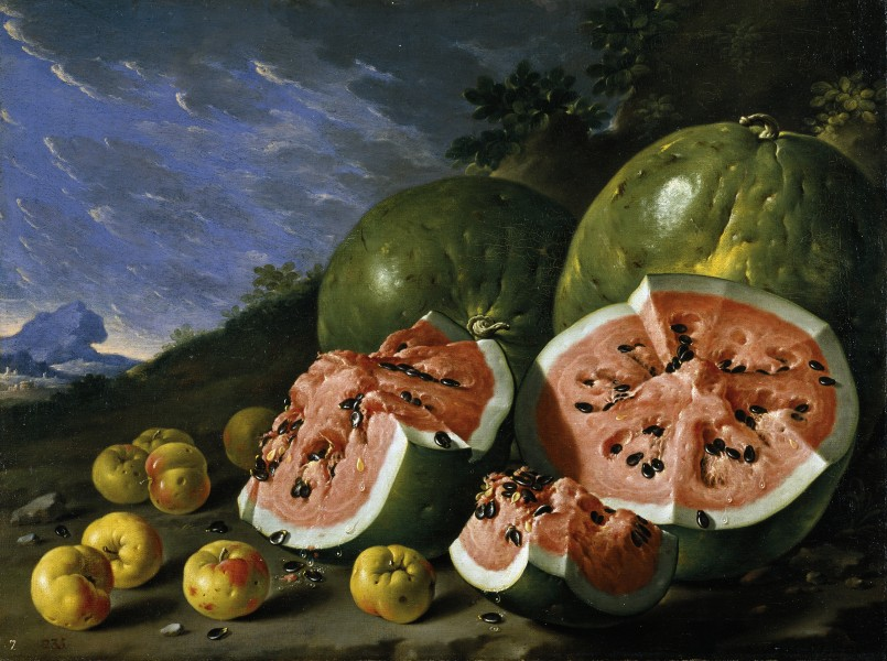 Luis Melendez, Still Life with Watermelons and Apples, Museo del Prado, Madird