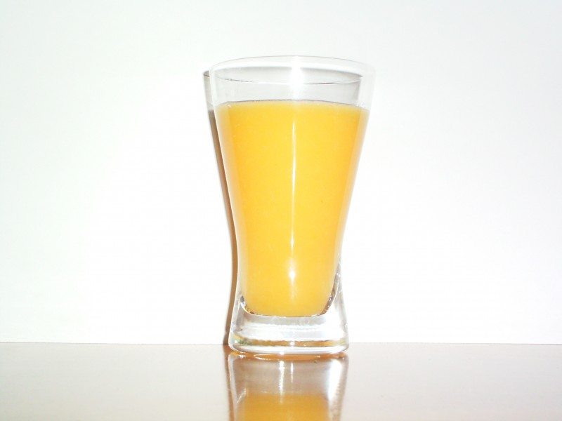 Orange juice without any fruits