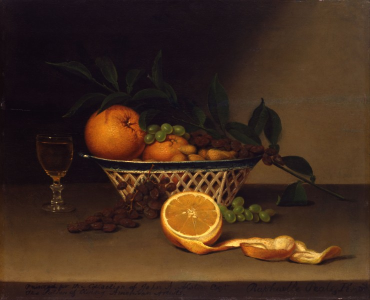 Raphaelle Peale - Still Life with Oranges - Google Art Project
