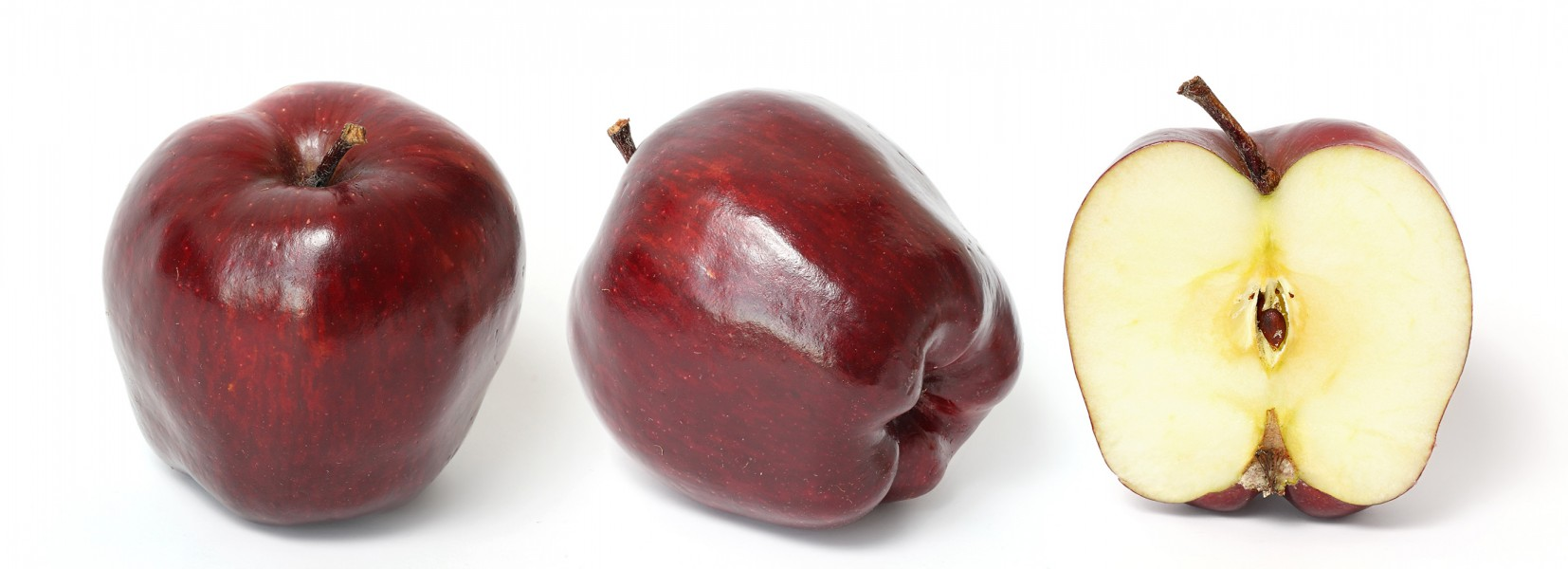 Red delicious and cross section