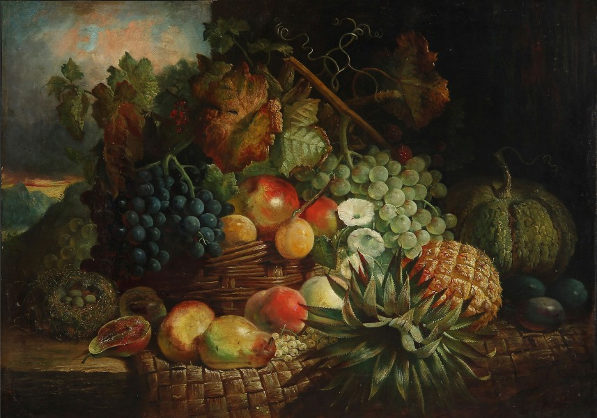 Still life with fruit, 1884 (unknown painter)