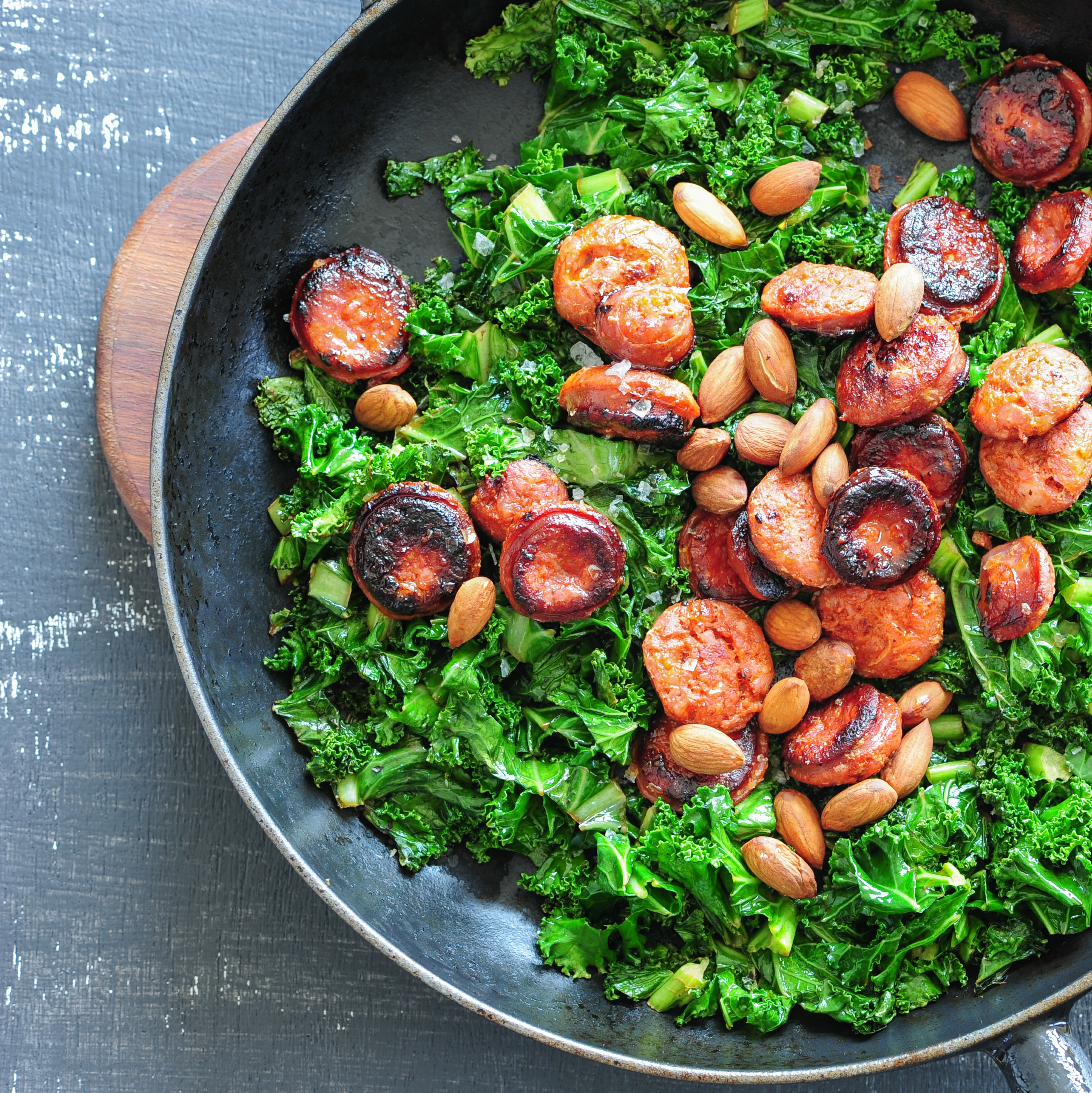 Chorizo with kale