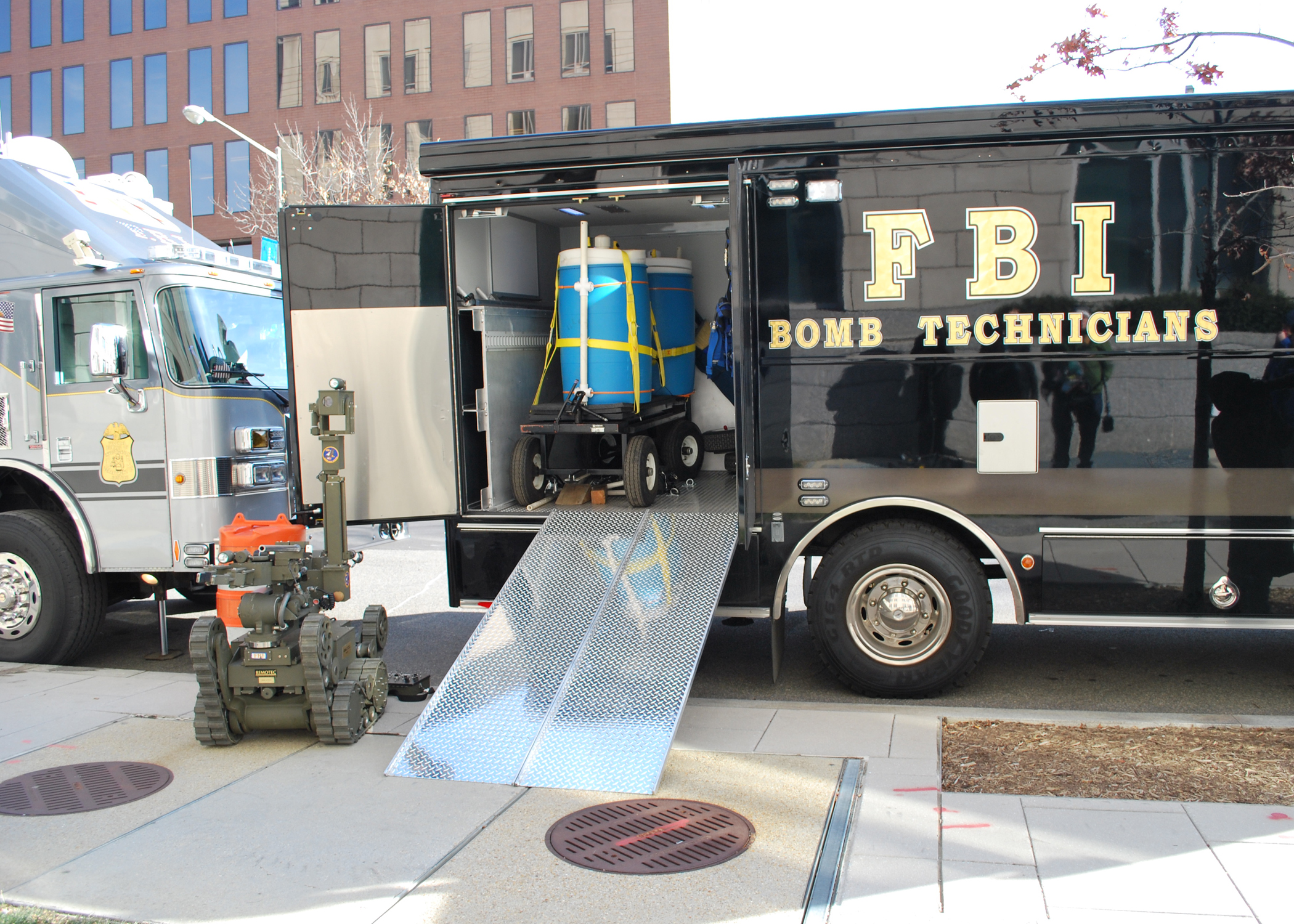 FBI Gear from the bomb techs vehicle