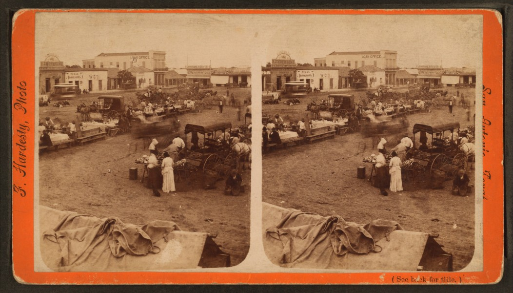 Chili-con-carne tables, from Robert N. Dennis collection of stereoscopic views
