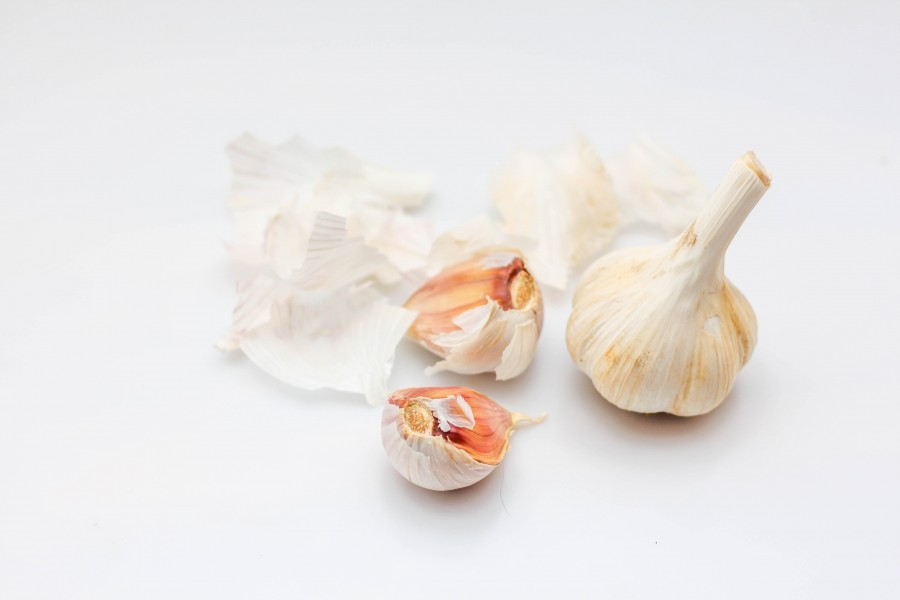 Garlic on a White Background (24303344948)