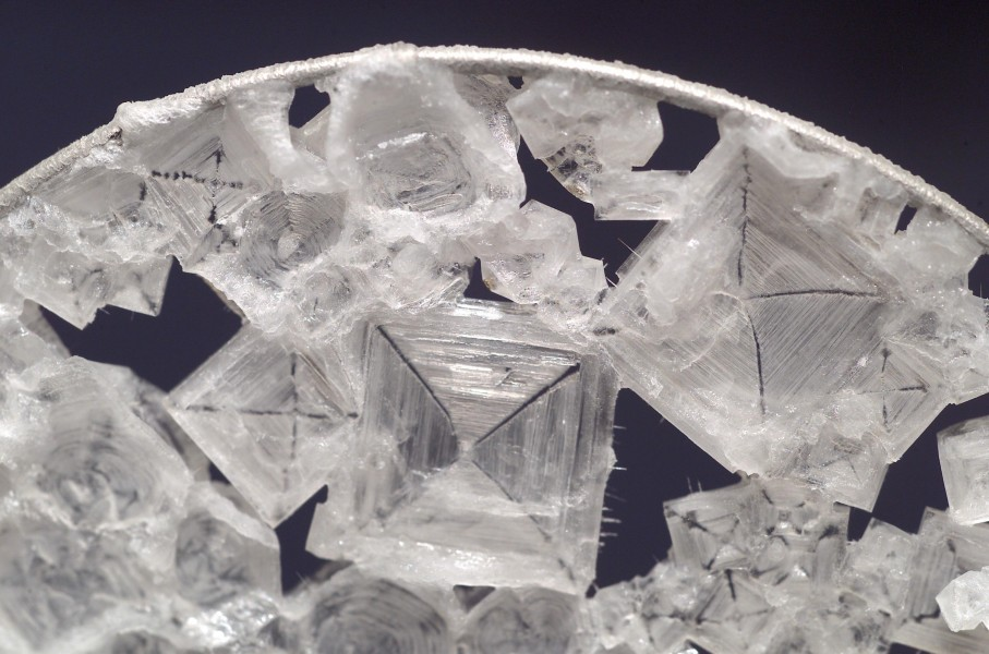 Sodium chloride crystals aboard ISS