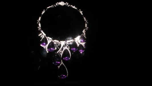 WLA hmns Amethyst and Diamond Necklace