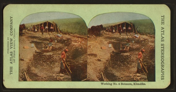Working No. 4 Bonanza, Klondike, from Robert N. Dennis collection of stereoscopic views