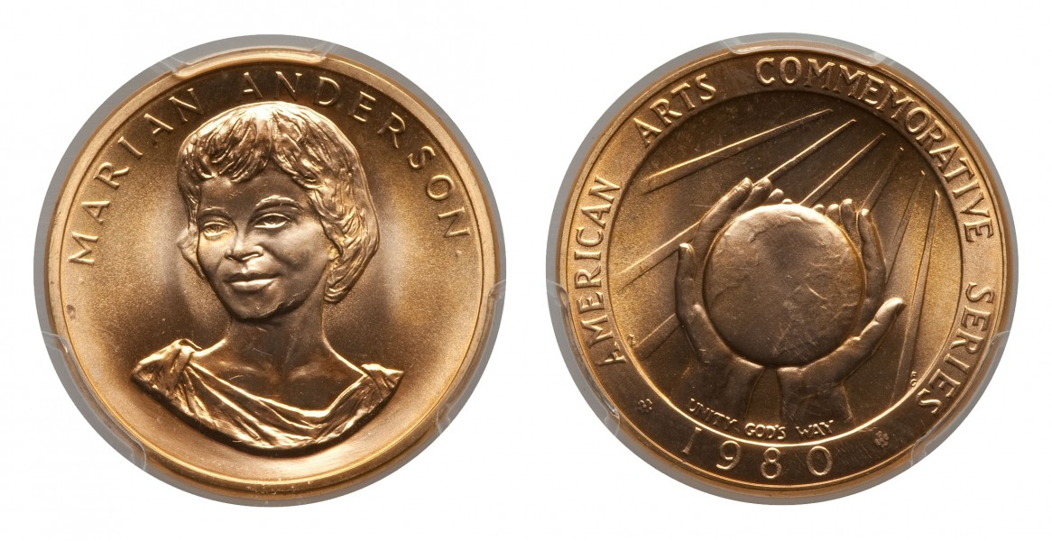 1980 Marian Anderson Half-Ounce Gold Medal