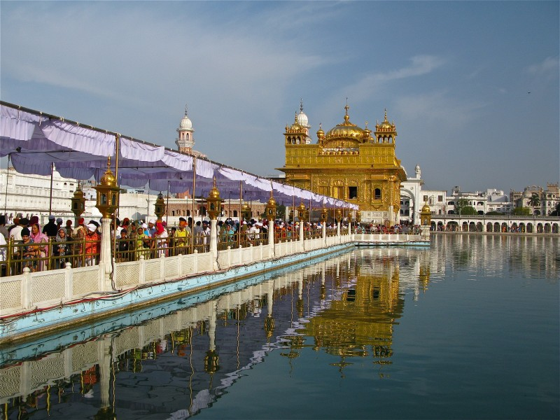 Canopied passage to the Golden Temple, Amritsar