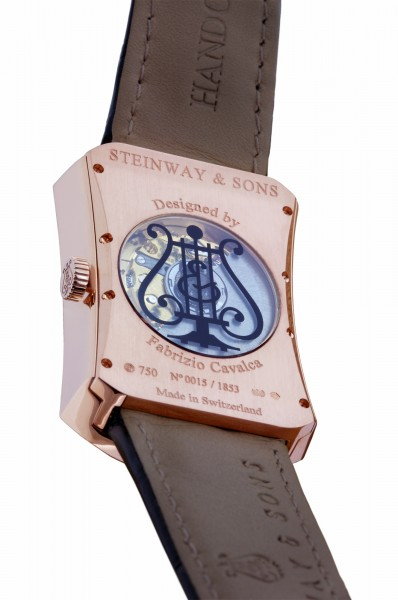 Steinway watch MODEL M RED GOLD BACKSIDE